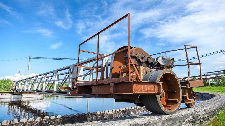 Waste water sewage plant